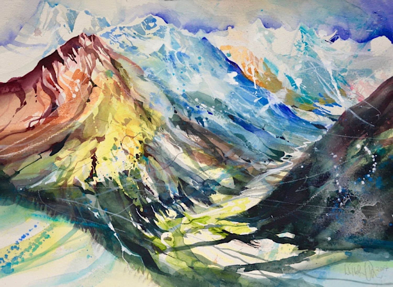 Berge Aquarell